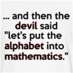 and the the devil said funny algebra math joke gift ideas