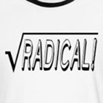 radical square root funny math pun t-shirts and gifts