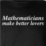 mathematicians make better lovers funny math geek gift ideas