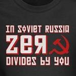 in soviet russian zero divides by you humor geek and nerd shirts