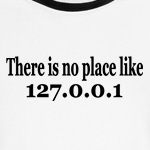 there is no place like home IP address computer geek t-shirts