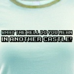 in another castle funny mario video game t-shirts