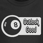 8 ball outlook good funny retro humor t-shirts and other gifts