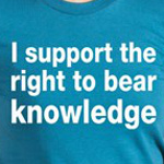 i support the right to bear knowledge funny liberal shirts