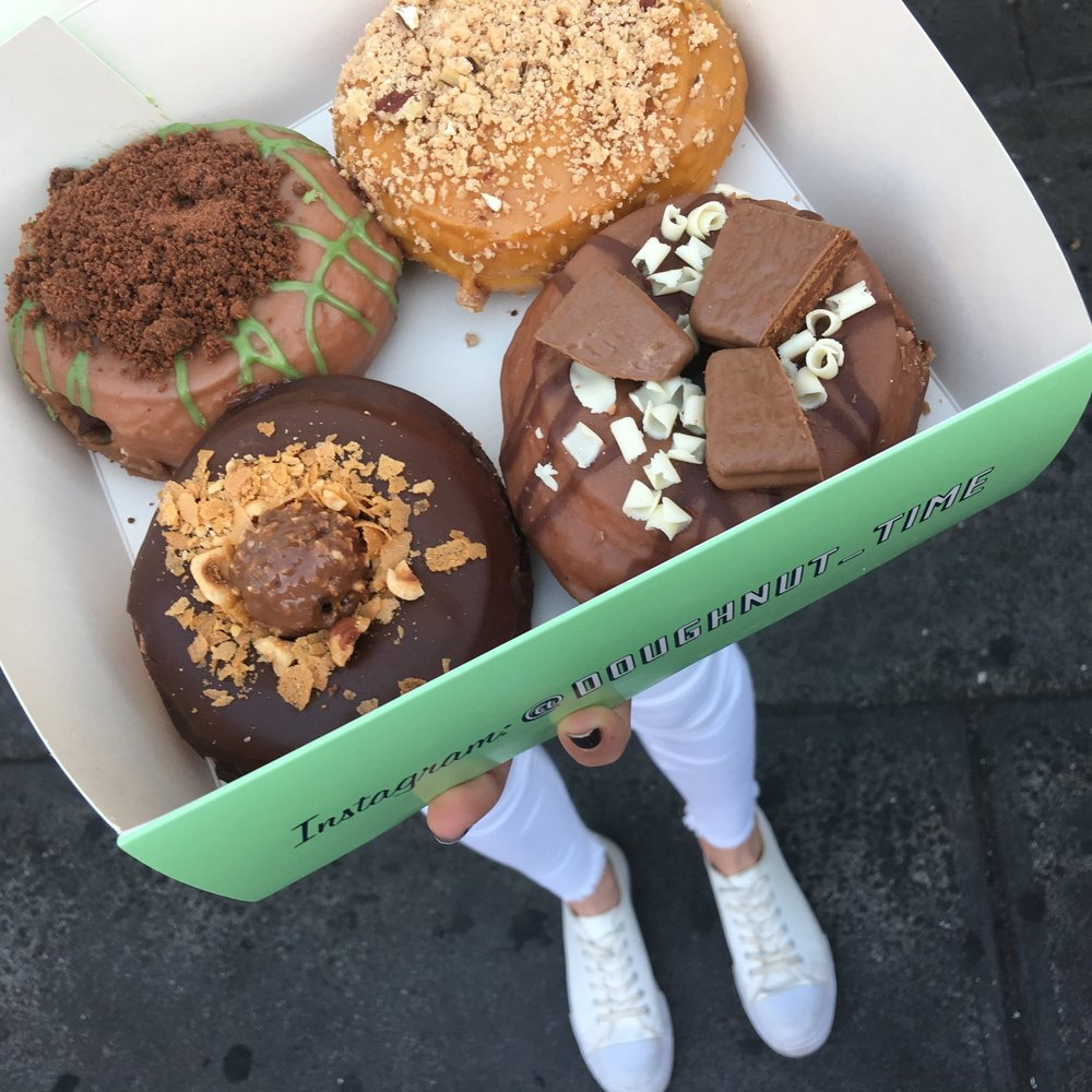 "The Melbourne doughnut boutique feature well-named, super decadent doughnuts, such as the ""Cate Blanchett"" and the ""Ferrero No-share"". They feature different flavours seasonally and even have a few Vegan options available. Yay!"