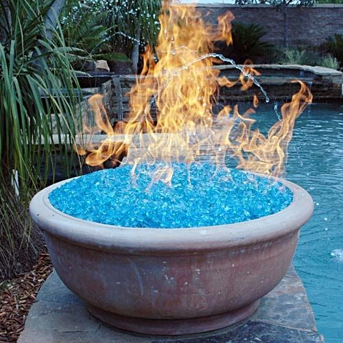 this vintage blue glass can also give you a pretty cool smokeless fire pit good news recycling the past also has these smaller pieces available for