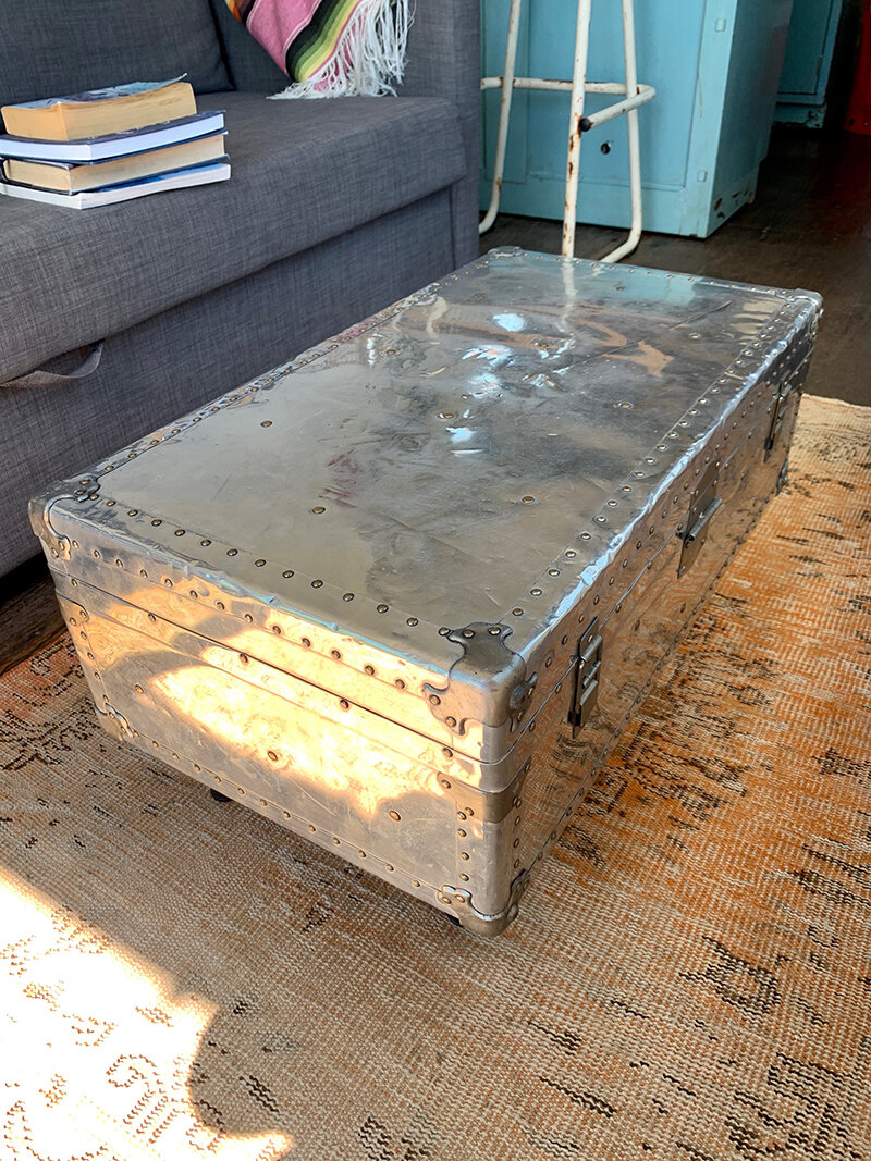 Flophouze Shipping Container Hotel Travel Trunk Coffee Table