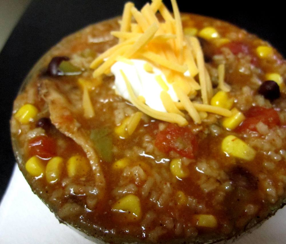 Chicken and Rice Enchilada Soup Recipe Pic
