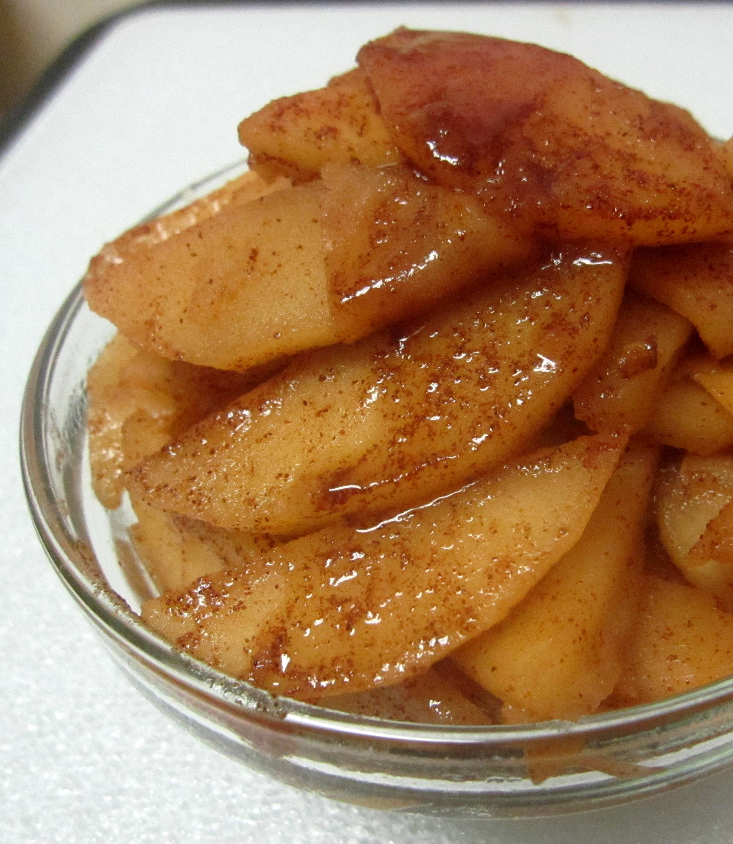 Pan-fried apples Pic