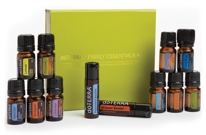 FAMILY ESSENTIALS KIT AND BEADLETS ENROLLMENT KIT   PRICE: $150 Wholesale ($200 Retail)  PRODUCTS:  Lavender ,  Lemon ,  Peppermint ,  Melaleuca ,  Oregano ,  Frankincense ,  Deep Blue® ,  doTERRA Breathe® ,  DigestZen® ,  doTERRA On Guard®   A perfect addition to every home, the Family Essentials Kit and Beadlets Enrollment Kit supports a healthy and uplifting family environment.