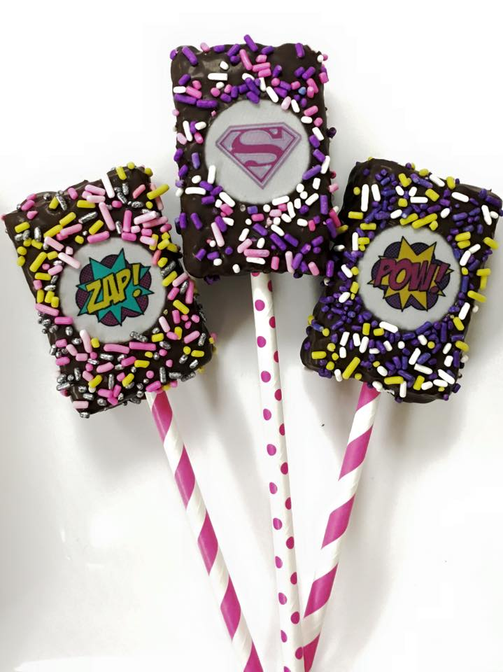 Superhero Krispie Pops