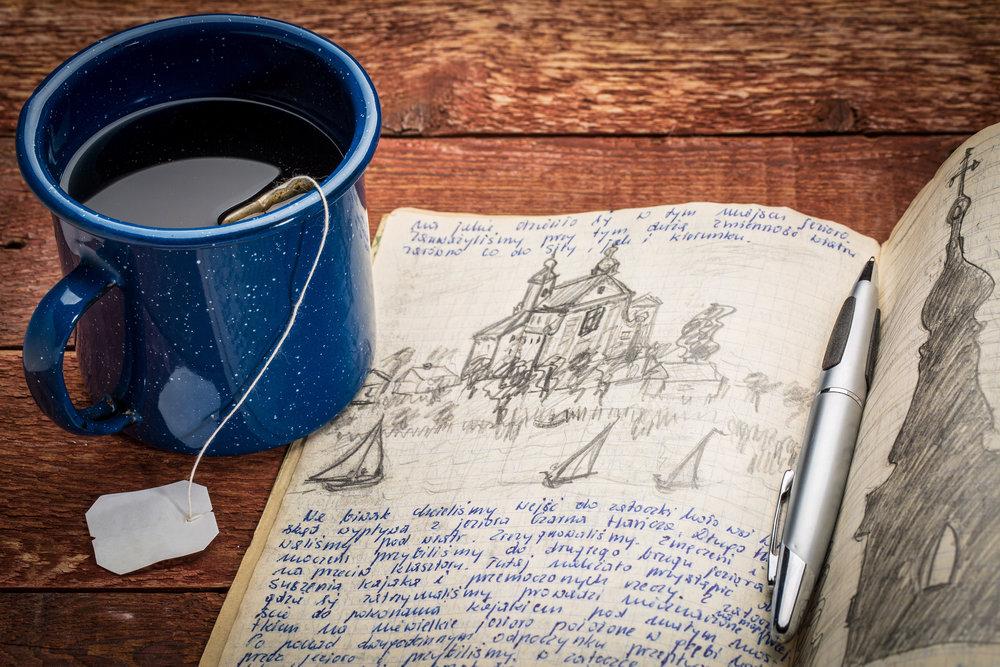 writing travel journal