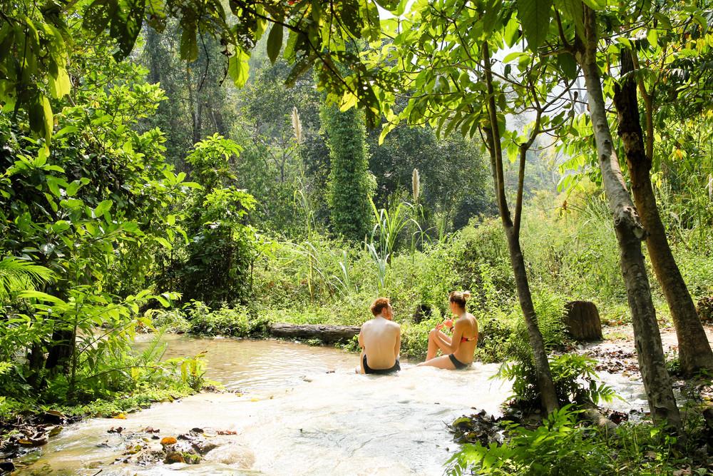 Chiang Mai Thailand Sticky Falls Bua Thong