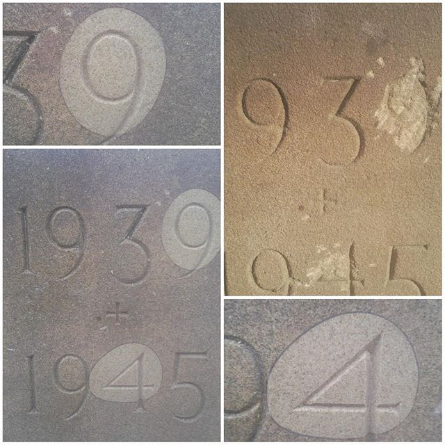 When restoring and conserving buildings it is best practice to create the minimum amount of disturbance to the surrounding fabric as possible. An example of defected lettering we restored, mimicking natural shell formation with fine joints.