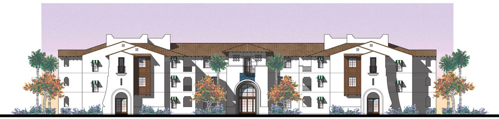 Boutique Hotel: Front Elevation