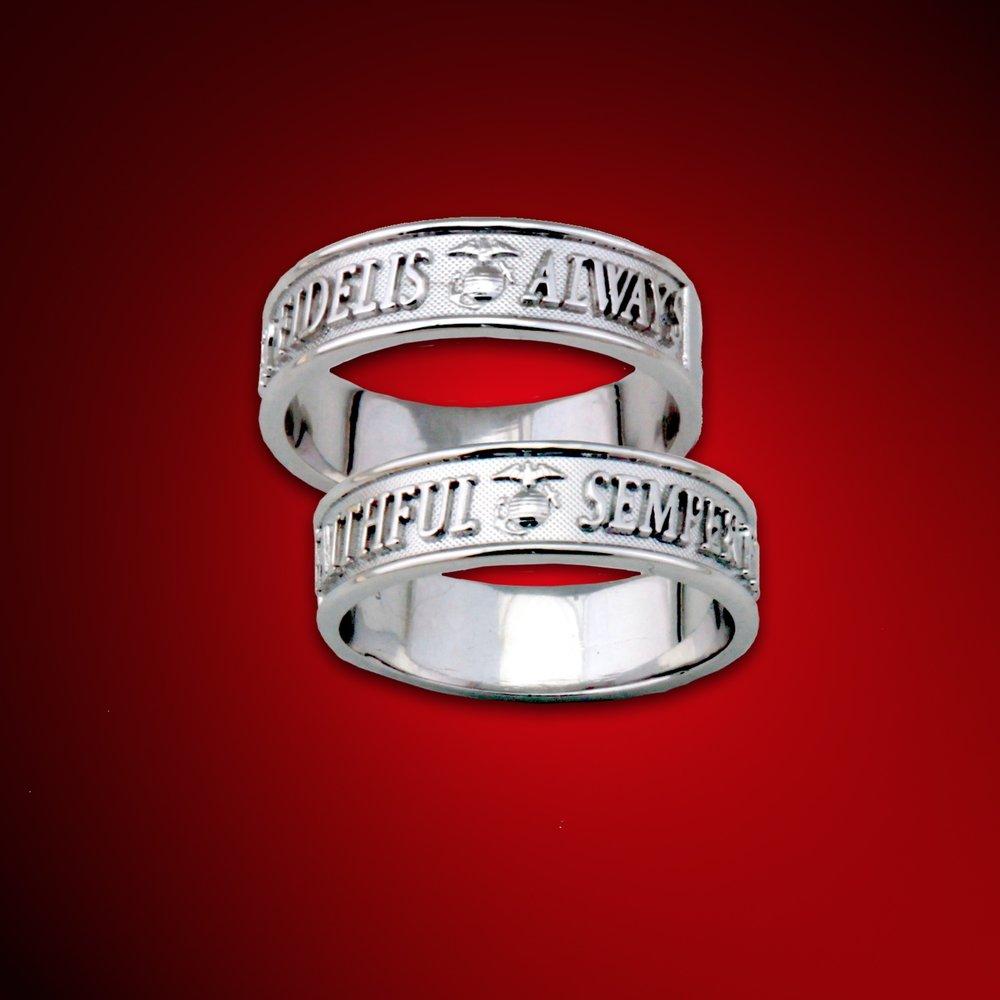 marine wedding ring semper fidelis always faithful