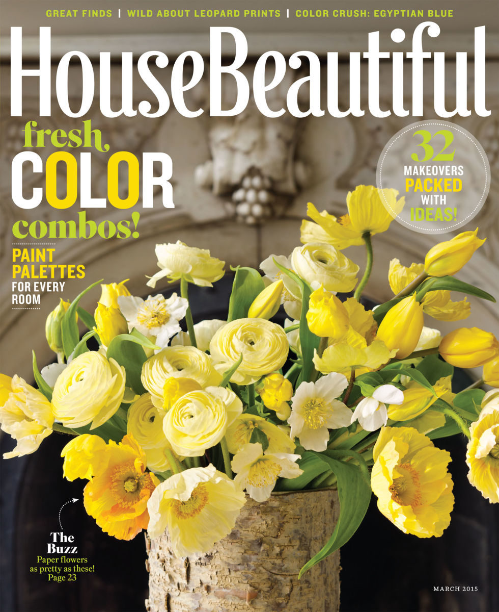 House Beautiful. March 2015. Print.