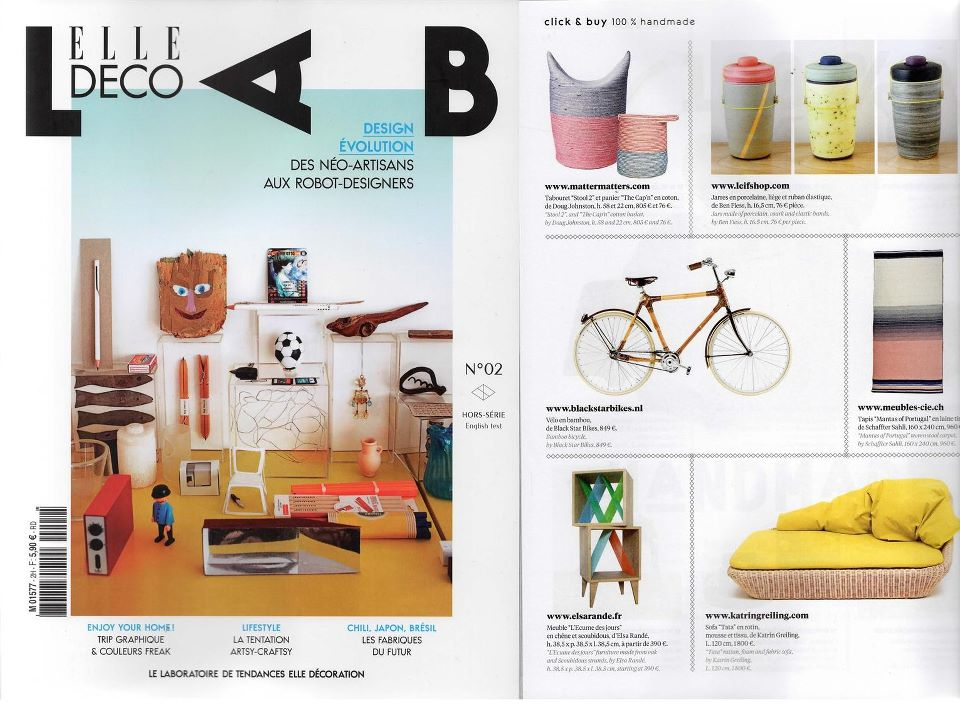 ELLE Deco Lab No. 2 (France). March 2013. Print