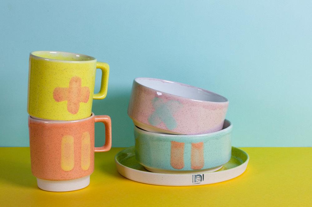 Mug, Bowl, Plate