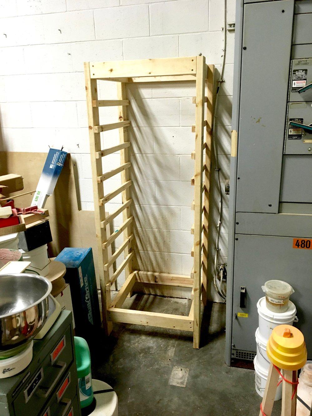 Assembled rack