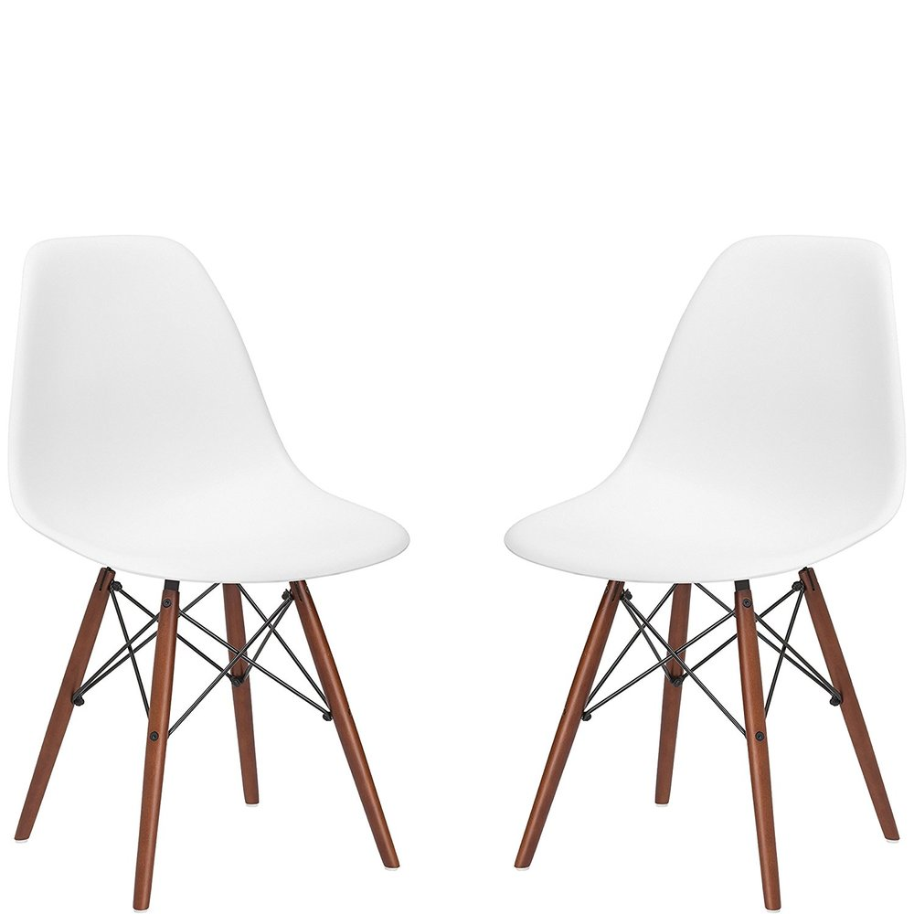 White Eames style chairs