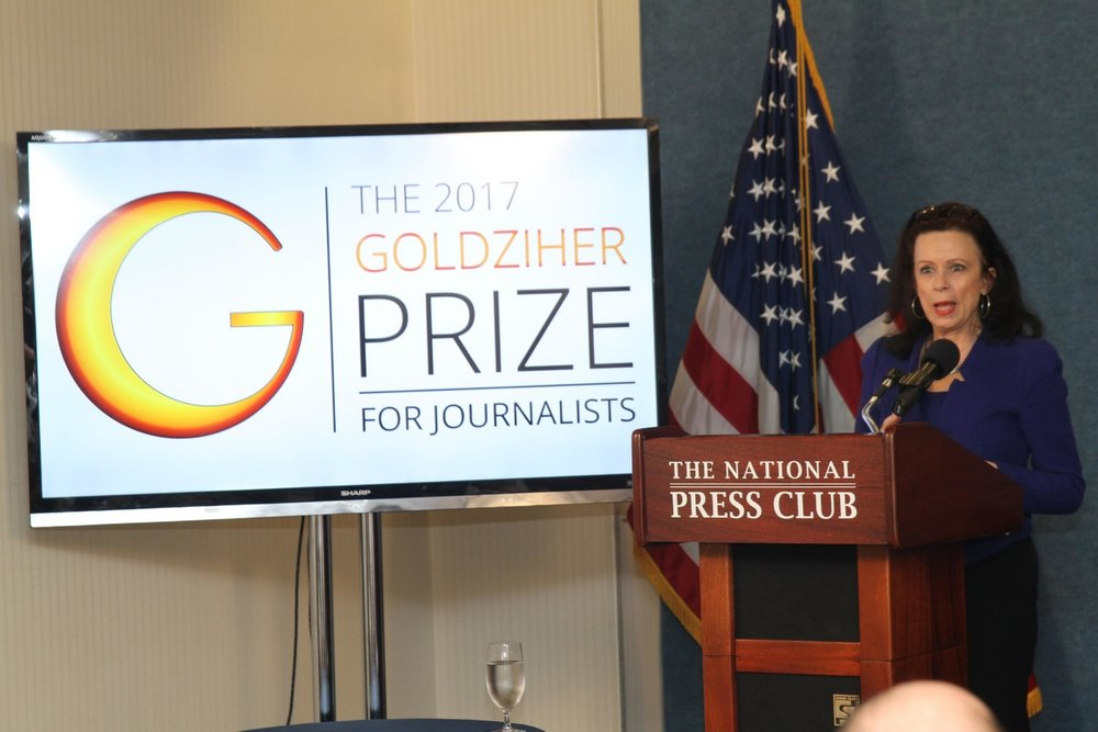 2017 Goldziher Prize Awards  - National Press Club, May 3, 2017