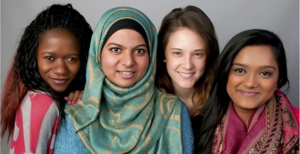 Alumnae of the Interfaith Alliance at Merrimack College. Photo: Kevin Salemme