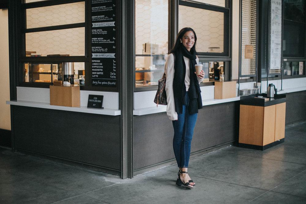 jeans  Zara  | sweater  Acrimony  | shoes  Aldo  | bag  Louis Vuitton