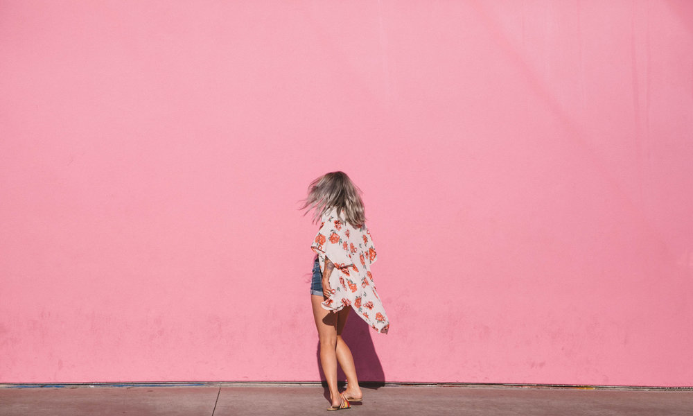 Los Angeles street art Paul Smith pink wall