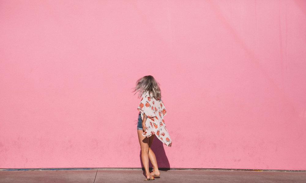 Los Angeles street art Paul Smith pink wall