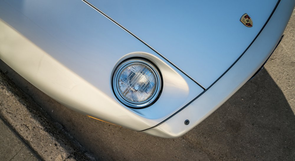 Close view of a Porsche