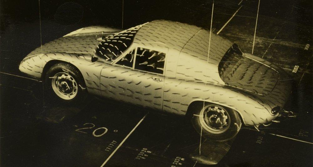 Porsche on assembly line