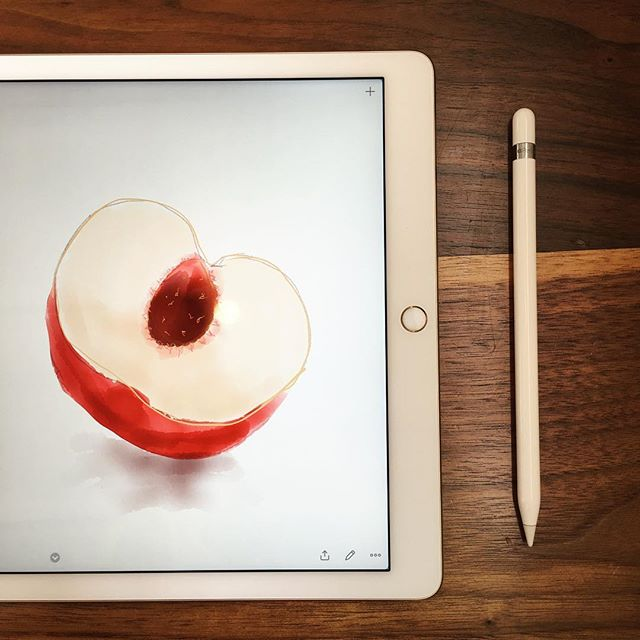 🍑 #ipadpro #paint #applepencil #paper