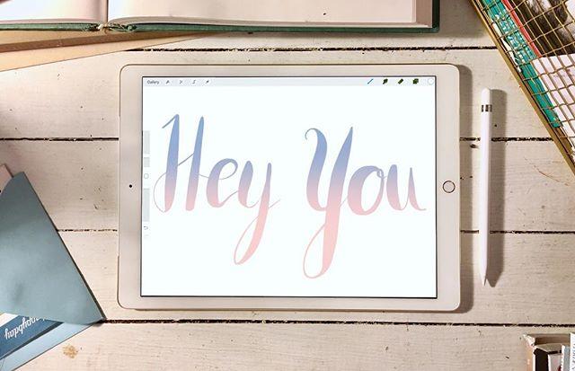 Hey you! #caligraphy #pantonecoloroftheyear #pantones #ipadpro #applepencil #procreateapp @procreateapp