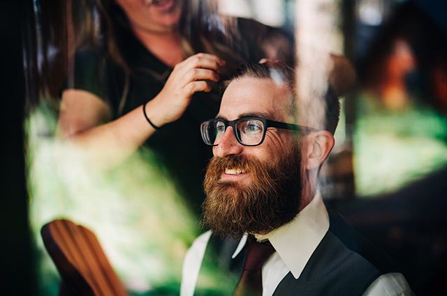 Groom getting ready. It's hardly fair that guys can spend like thirty minutes getting ready and look this dapper 🧐  #groomgettingready #groom #groomstyle #beard #groomportait #weddingprep #candidweddingphotos #wedventuremag #justalittleloveinspo #oregonwedding #sistersorwedding #fivepineslodge #oregonweddingphotographer #groomswear #groominspiration #pnwwedding #focalpointweddings #focalpointstudios