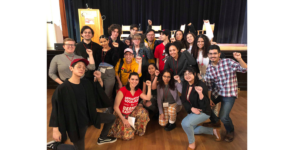 NYC YDSA members from NYU, City College, and Hunter College at the 2019 YDSA Winter Conference in Berkeley, CA