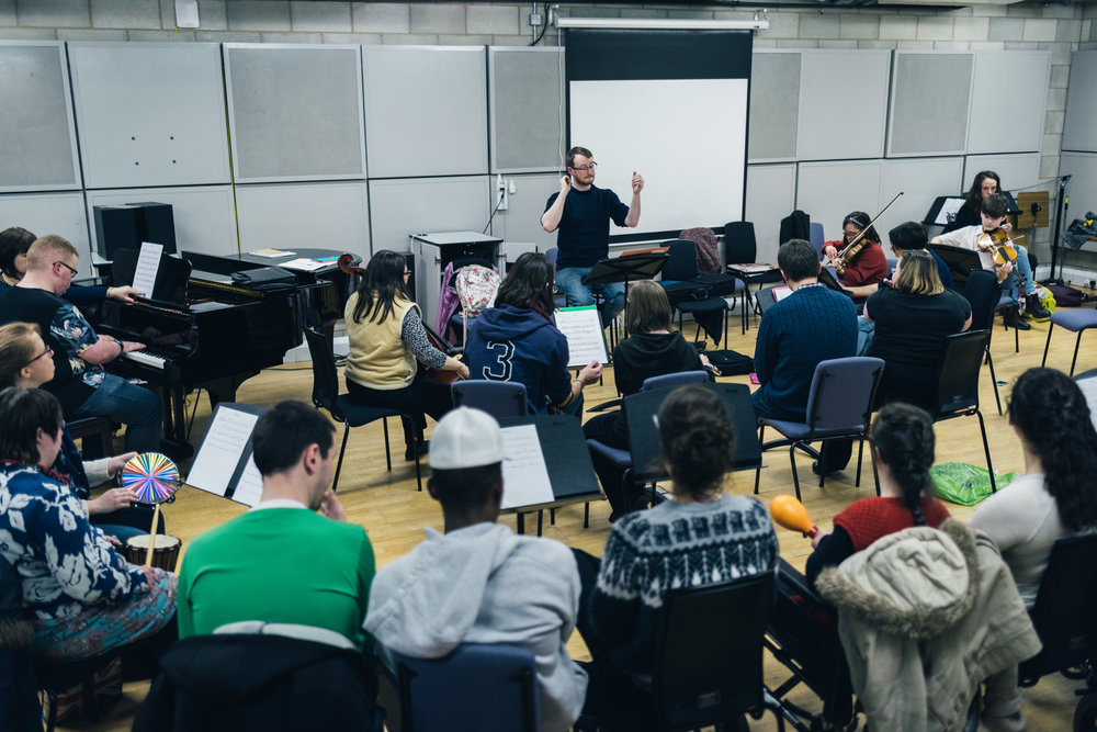 - Everybody is welcome to join in the orchestra and those who do not play an orchestral instrument have a variety of percussion instruments to play - no prior experience is necessary!