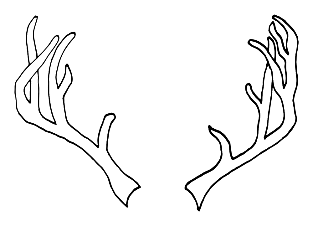 deer antlers drawing easy - photo #10