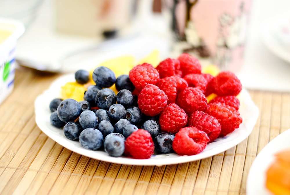 Or a plate of colourful berries for dessert-- Nature's candy.