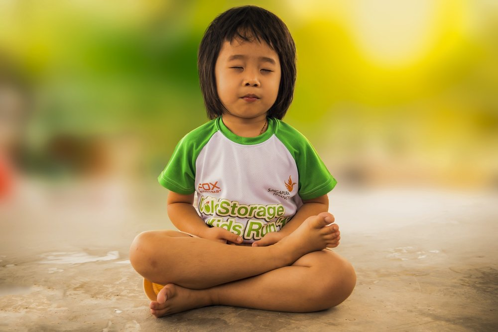 Kids can practice yoga and meditation too!
