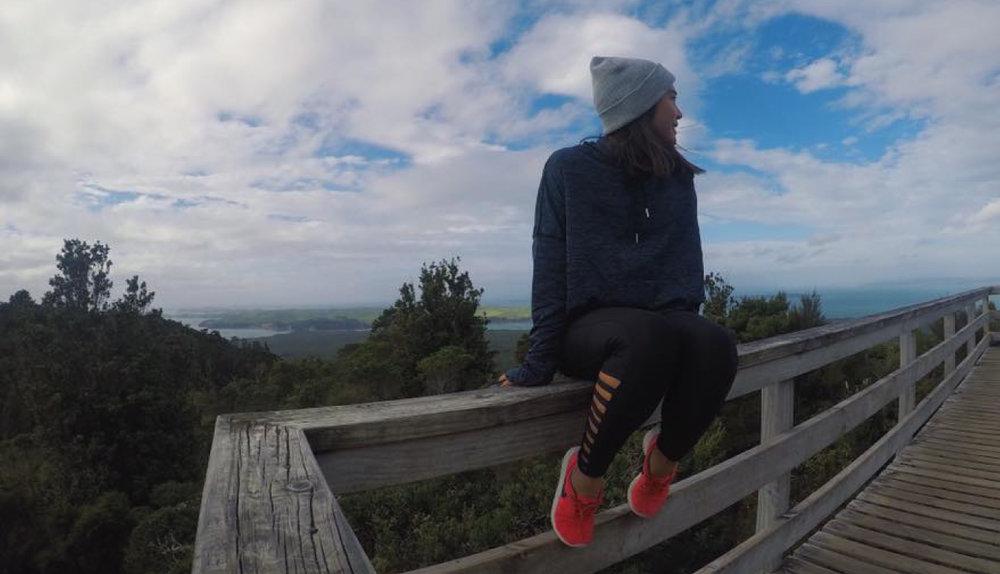 At Rangitoto's summit