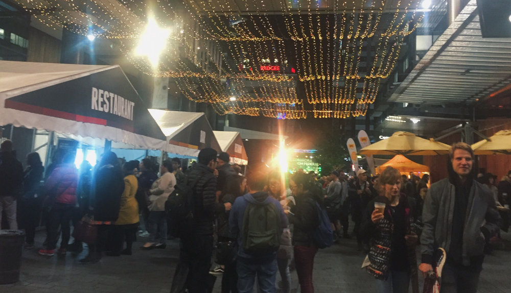 The Matariki Festival:The street party on Federick Street