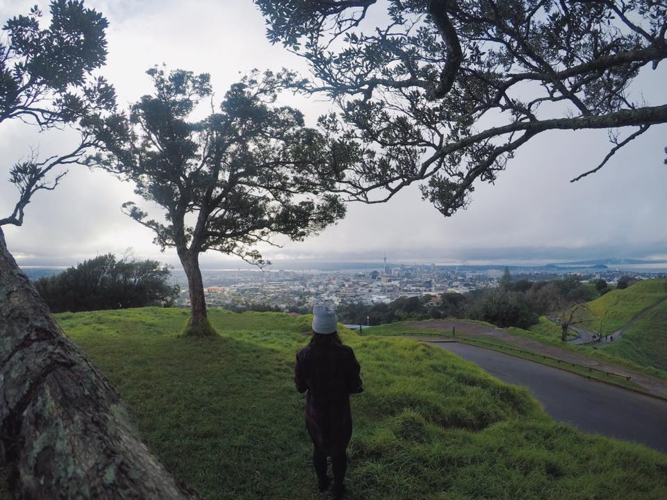 On top of Mt. Eden there's a beautiful 360 view of Auckland!