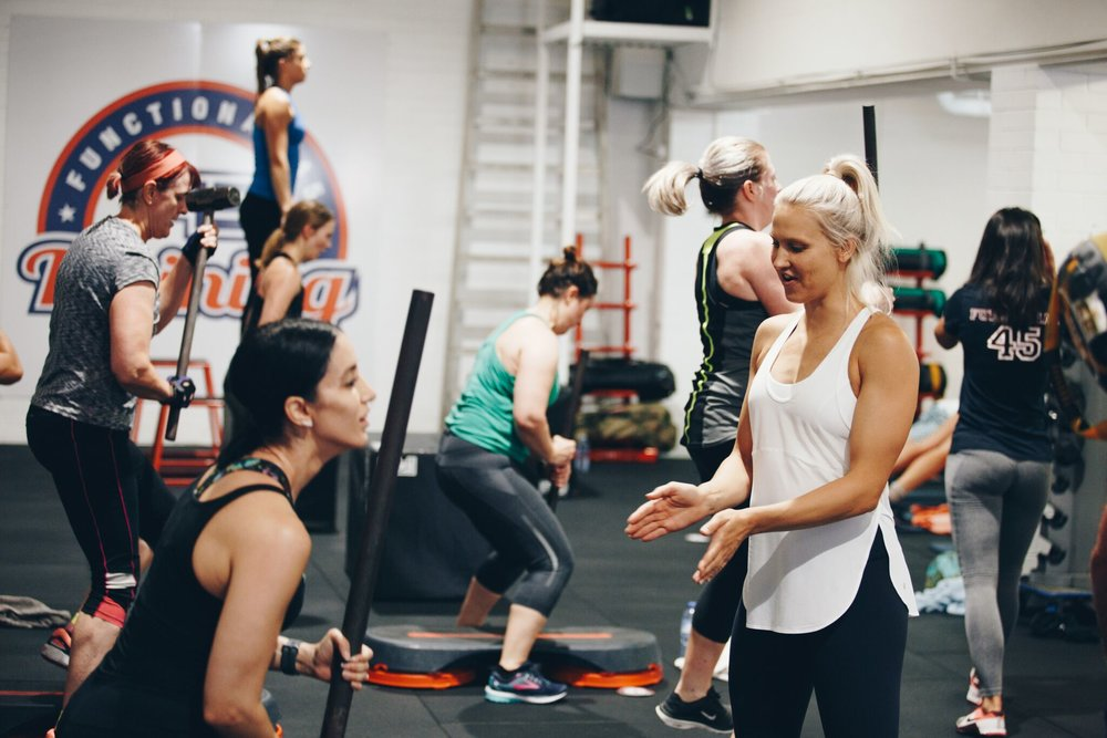 F45 Nina and training mums