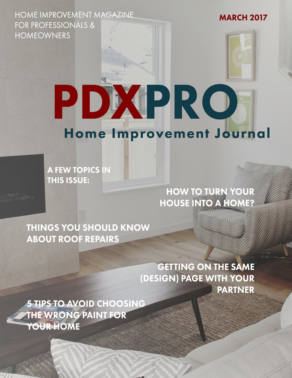 PDXPRO Home Improvement Journal Cover October