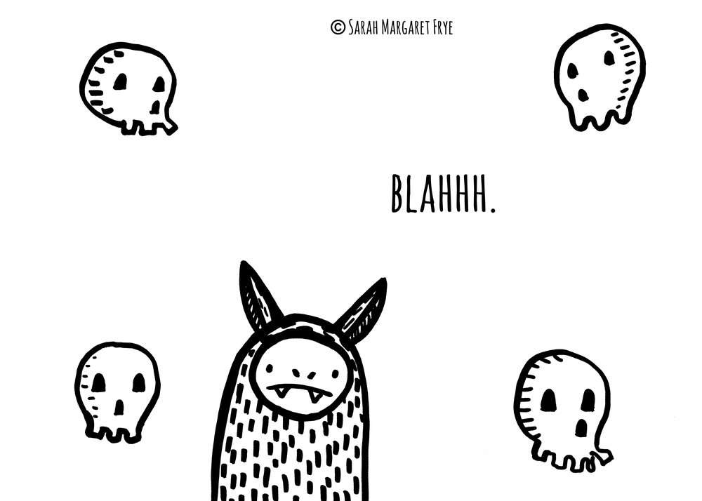Blahh Bat and skulls Sep 2017 copyright.jpg