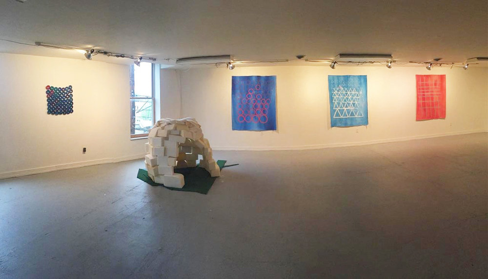 HOME: Install shot at Fluorescent Gallery, Knoxville TN
