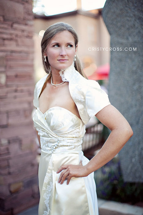 Tara Harris photographed in Santa Fe NM at La Posada Resort and Spa taken by New Mexico Wedding Photographer Cristy Cross