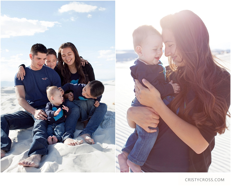 The Hames' White Sands, New Mexico Family Session taken by Clovis Portrait Photographer Cristy Cross_0003.jpg