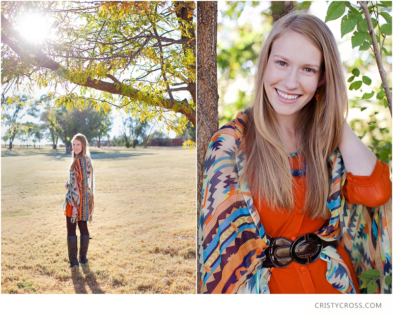 Kassie's Orange and Turquoise Fall High School Senior Shoot taken by Clovis Portrait Photographer Cristy Cross_0003.jpg